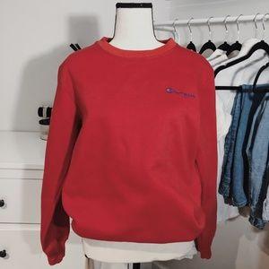 Brand New Red Unisex Champion Crewneck Sweatshirt